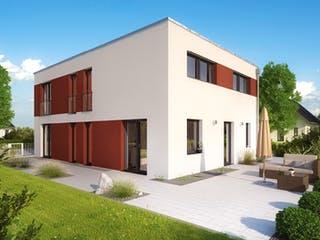 ICON 4 City mit Flachdach von Dennert Massivhaus Außenansicht 1