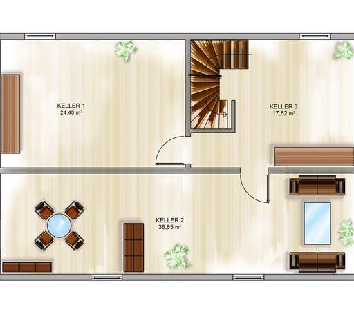 Dennert ICON 4 City mit Flachdach Floorplan 3