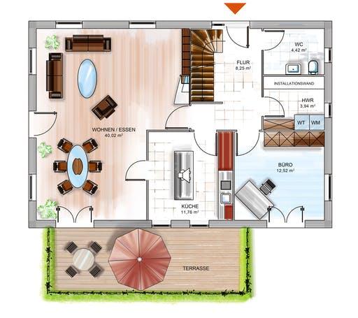 Dennert ICON 4 mit Quergiebel Floorplan 1