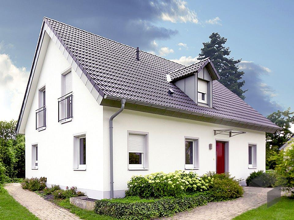 ICON 4 mit Satteldach von Dennert Massivhaus Außenansicht