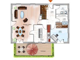 ICON 4 mit Satteldach von Dennert Massivhaus Grundriss 1