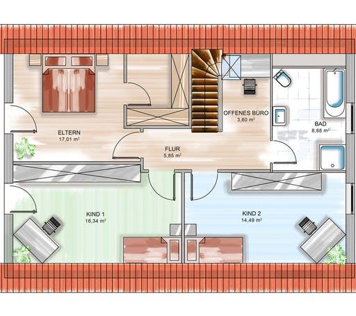 Dennert ICON 4 mit Satteldach Floorplan 2
