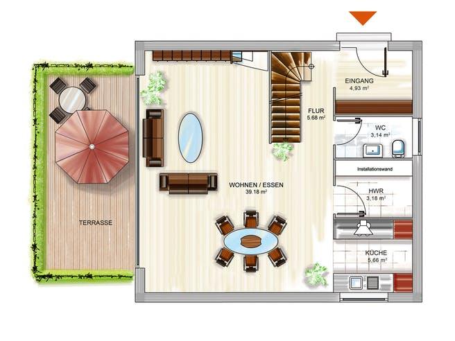 Dennert ICON Cube Floorplan 1