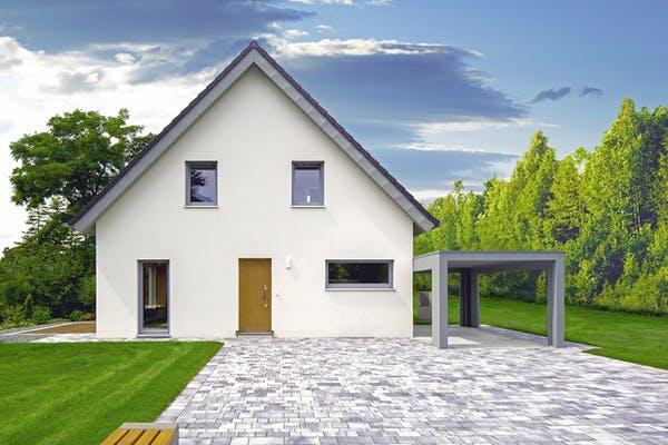 Satteldachhaus mit Garage Dennert Massivhaus
