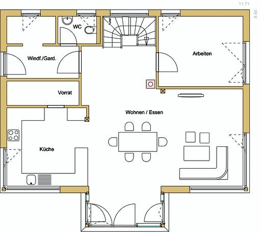 Design 176 Floorplan 1