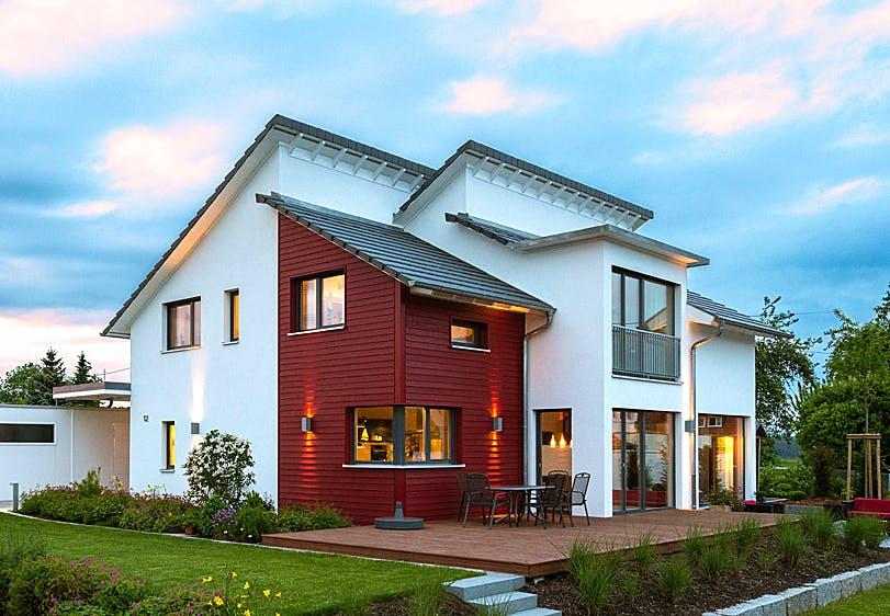 Haus mit unterbrochenem Pultdach