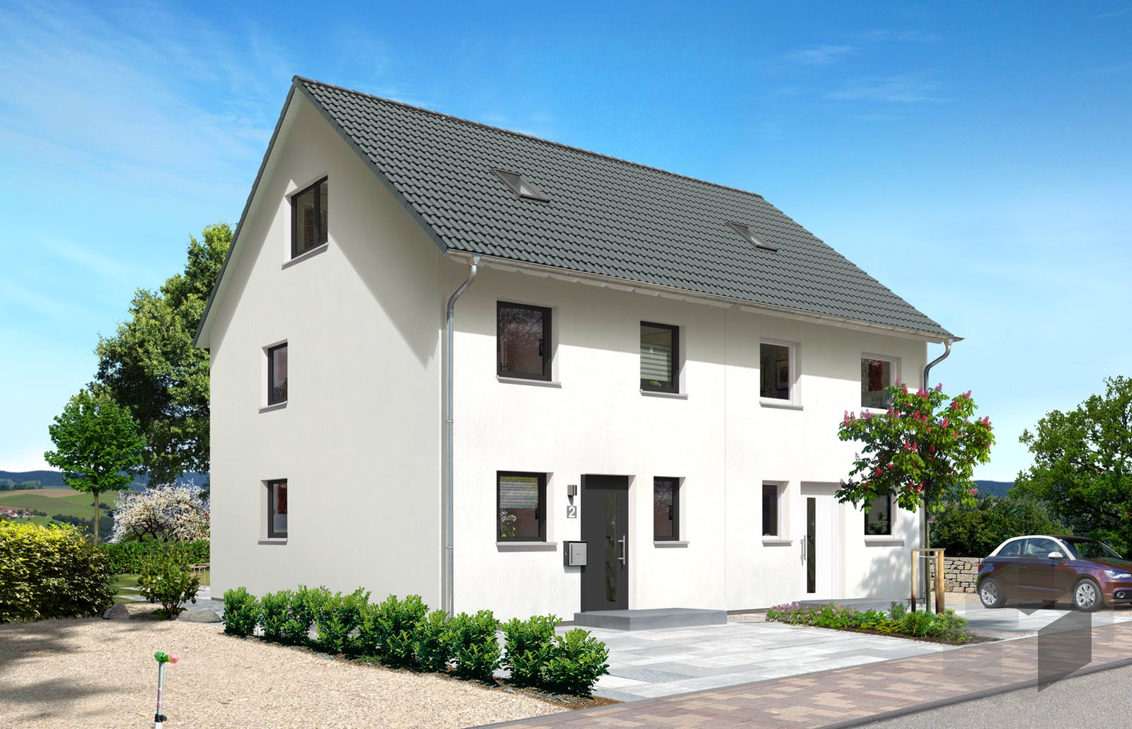 mainz 128 doppelhaus von town country haus komplette daten bersicht. Black Bedroom Furniture Sets. Home Design Ideas