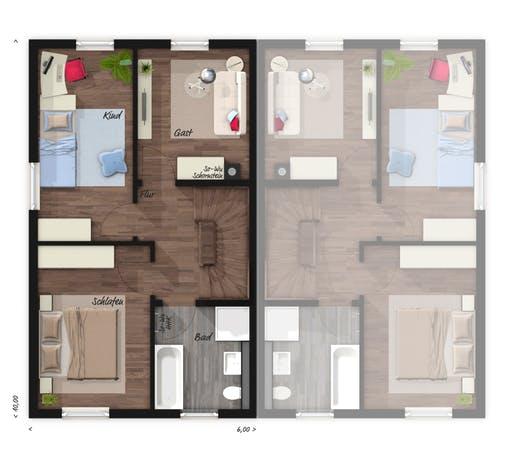 Mainz 128 Doppelhaus Elegance Floorplan 2