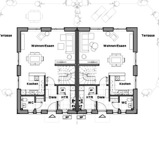 Doppelhaus V4 Floorplan 1