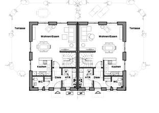 Doppelhaus V4 Grundriss