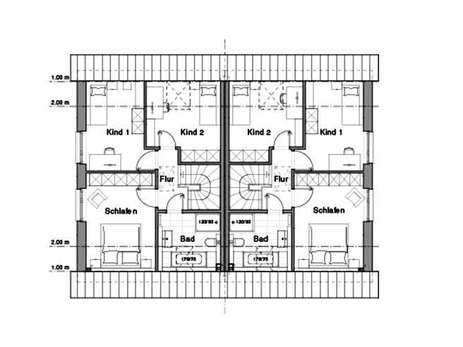Doppelhaus V4 von Viebrockhaus Grundriss 1