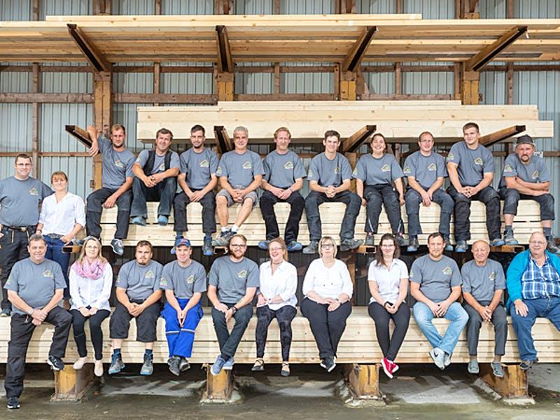 Handwerker und Mitarbeiter von Diers Holzbau
