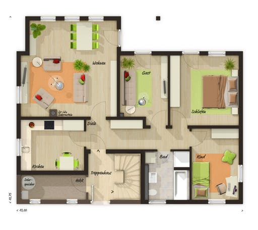 Domizil 192 Trend Floorplan 1