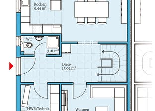 Doppelhaus 45-123 Grundriss