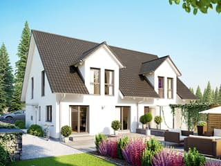 Doppelhaus 45-123 von Hanse Haus Außenansicht 1