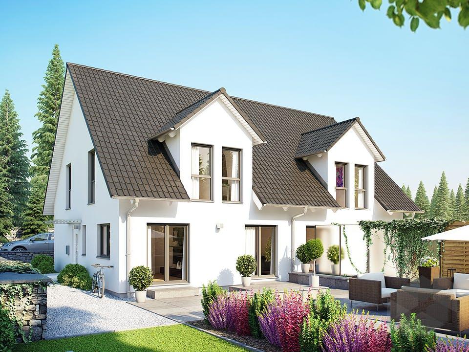 Doppelhaus 45-123 von Hanse Haus Außenansicht