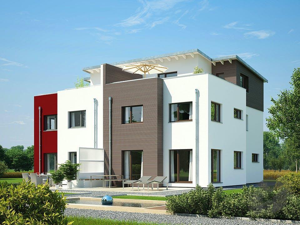 Doppelhaus 144 von Hanse Haus Außenansicht