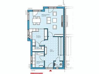 Doppelhaus 144 von Hanse Haus Grundriss 1