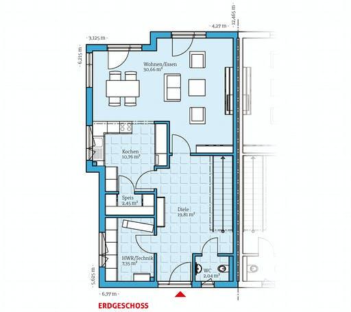 Hanse - Doppelhaus 144 Floorplan 1
