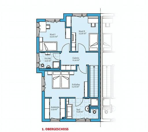 Hanse - Doppelhaus 144 Floorplan 2