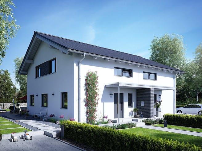 Doppelhaus 25-125 von Hanse Haus Außenansicht 1