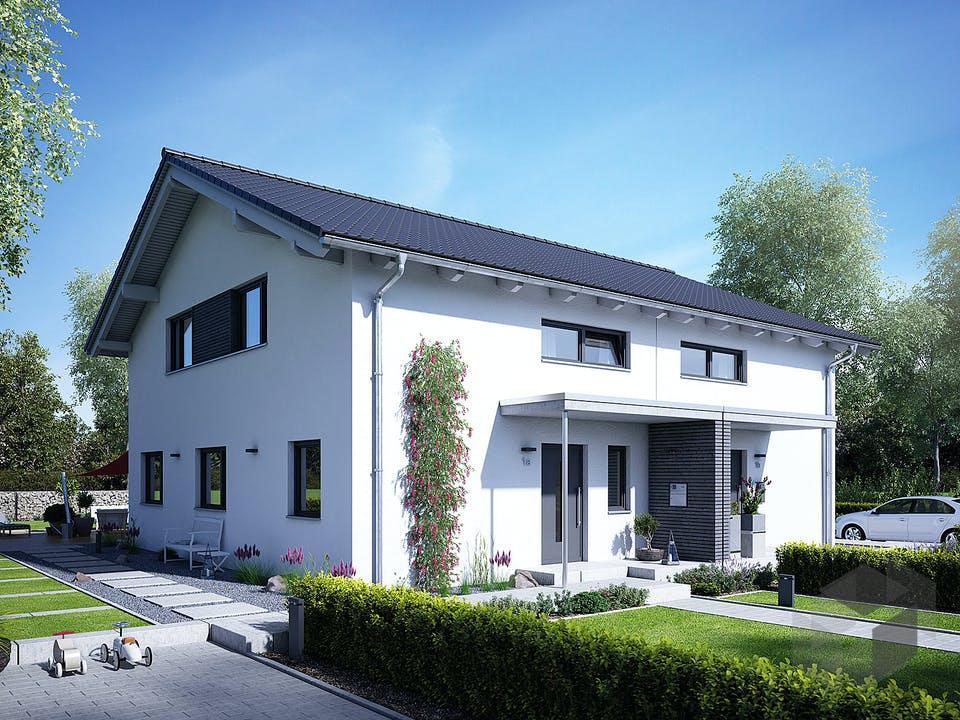 Doppelhaus 25-125 von Hanse Haus Außenansicht