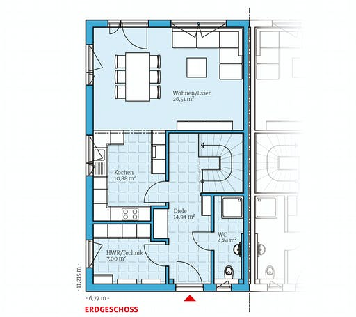 Hanse - Doppelhaus 25-125 Floorplan 1