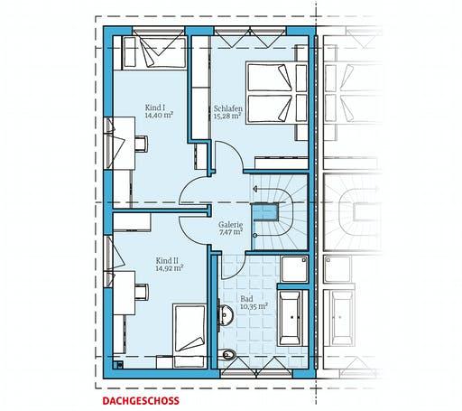 Hanse - Doppelhaus 25-125 Floorplan 2