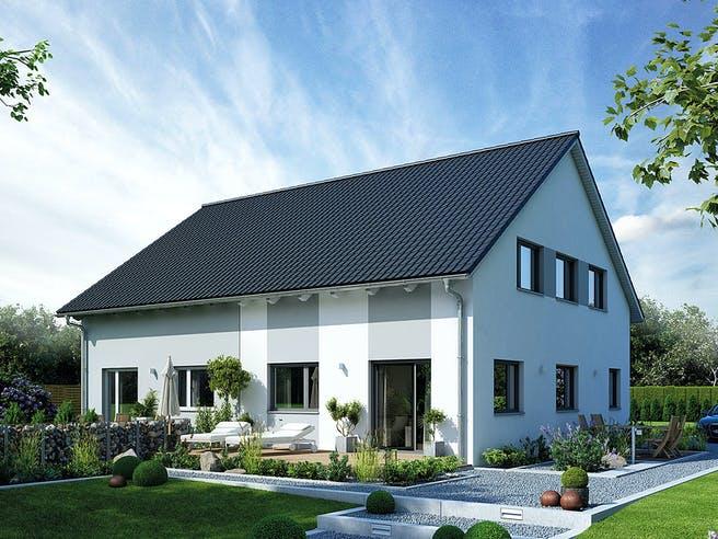 Doppelhaus 35-124 von Hanse Haus Außenansicht 1