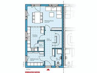 Doppelhaus 35-124 von Hanse Haus Grundriss 1
