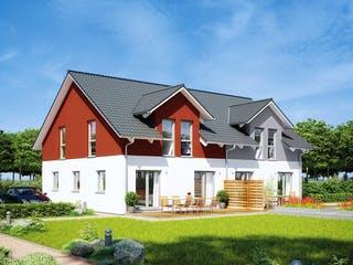 Doppelhaus 35-130 von Hanse Haus Außenansicht 1