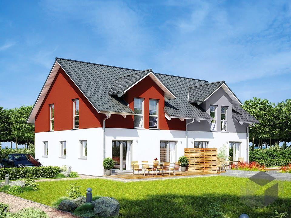 Doppelhaus 35-130 von Hanse Haus Außenansicht