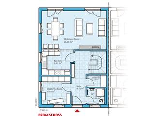 Doppelhaus 35-130 von Hanse Haus Grundriss 1