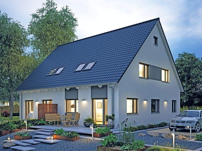 Doppelhaus 45-119 von Hanse Haus Außenansicht 1