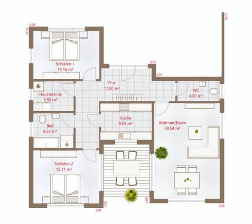 Drevo - Bungalow 101 PD Floorplan 1