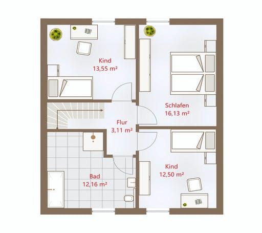 Drevo - Hausidee 119 SD Floorplan 2