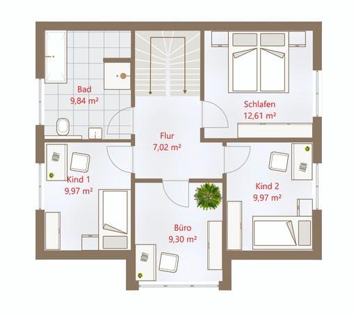 Drevo - Hausidee 122 SD Floorplan 2