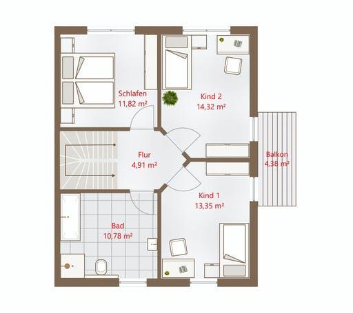 Drevo - Hausidee 122 WD Floorplan 2