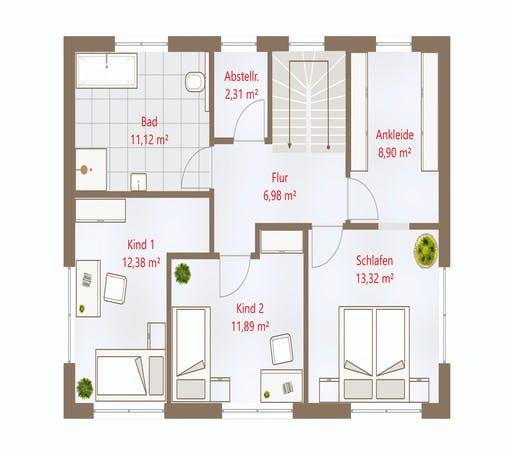 Drevo - Hausidee 150 SD Floorplan 2