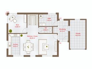 Hausidee 159 WD von DREVO HAUS Grundriss 1
