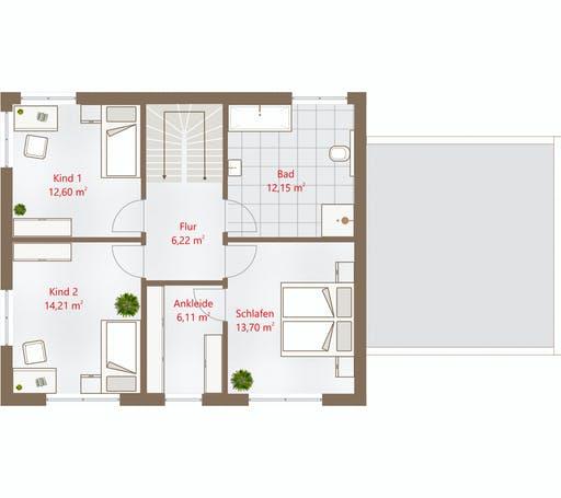 Drevo - Hausidee 159 WD Floorplan 2