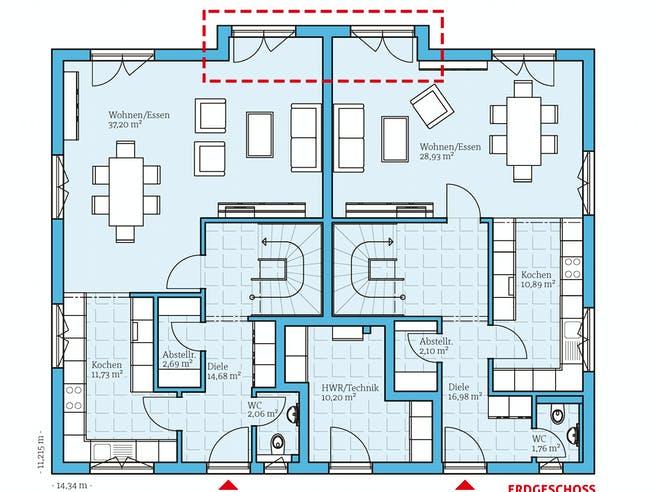 Hanse - Duo 315 Floorplan 1