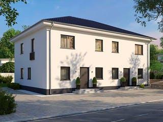 Duplex von AUREA Massivhaus Außenansicht 1