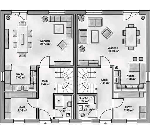 Aurea - Duplex Floorplan 1