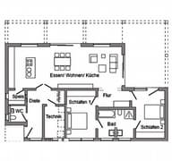 E 10-111.1 - Moderner Bungalow Grundriss