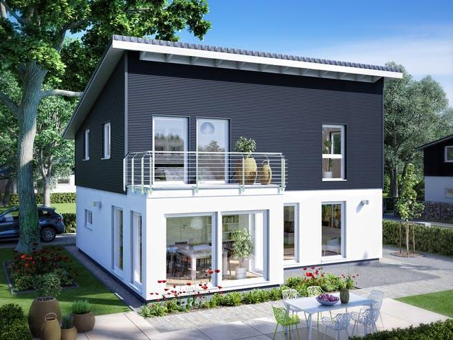 E 15-143.33 - Haus mit Pultdach von SchwörerHaus Außenansicht 1