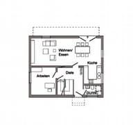 E 15-143.8 - Haus mit Pultdach Grundriss