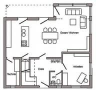 E 20-159.5 - Haus Kubus Grundriss