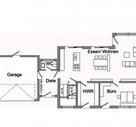 E 20-198.1 - Einfamilienhaus mit Z-Dach Grundriss