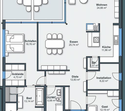 Ausstellungshaus rheinau linx eben leben von weberhaus for Floor plans for 160 000